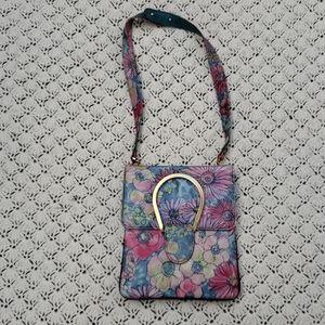 Vintage Varon Water Color Flower Purse Bag